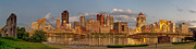 Steel City Framed Prints - Evening Panorama Framed Print by Jennifer Grover