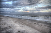 Ocean Shore Prints - Evening Paradise Print by Betsy A Cutler East Coast Barrier Islands