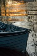 Rowboat Prints - Evening Peace Print by Joe Houghton
