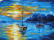 Sailboat Ocean Pastels - Evening Pleasure by Charles Vaughn