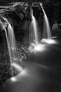 White River Scene Posters - Evening Plunge Waterfall Poster by John Stephens
