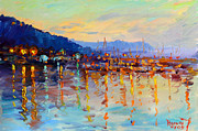 Ylli Haruni Prints - Evening Reflections in Piermont Dock Print by Ylli Haruni