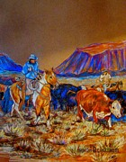 Susan Bergstrom Art - Evening Roundup by Susan Bergstrom