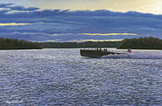 Chris Craft Prints - Evening Run Print by Richard De Wolfe