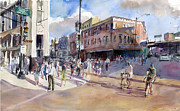 Crowd Scene Originals - Evening Rush Milwaukee North and Damen by Gordon France