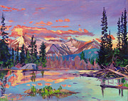 Beautiful Scenery Paintings - Evening Serenity by David Lloyd Glover