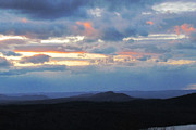 Randi Shenkman Photo Prints - Evening Sky over the Quabbin Print by Randi Shenkman