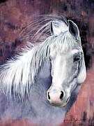 Horse  Pastels Paintings - Evening Smoke by Katherine Taylor-Green