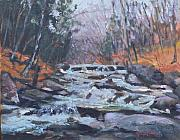 Vermont Autumn Originals - Evening Spillway by Alicia Drakiotes