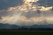 Evening Storm Clouds Print by Renee Skiba