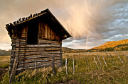 Wooden Building Prints - Evening Storm Print by Jeff Kolker