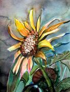 Evening Sun Flower Print by Mindy Newman