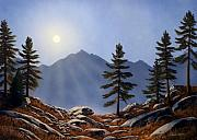 Pacific Crest Trail Paintings - Evening Sun by Frank Wilson
