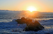 Evening Sun Over California Coast Print by Michael Rock