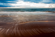 Storm Clouds; Sunset; Twilight; Water Metal Prints - Evening Tide Metal Print by Matt Dobson