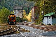 Kathleen K Parker - Evening Train in Thurmond WV - color