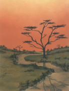 Clinton Pastels Prints - Evening Tranquillity 2 Print by Shelby Kube