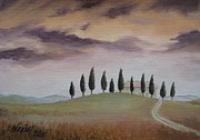 Jindra Noewi Prints - Evening Tuscany Print by Jindra Noewi