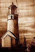 Realistic Pyrography Acrylic Prints - Evening walk at Cape Blanco Acrylic Print by Dino Muradian