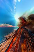Eruption Digital Art - Event Horizon by Corey Ford