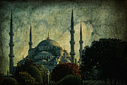 Blue Mosque Posters - Eventide Poster by Andrew Paranavitana