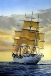 Sailing Ship Painting Prints - Eventide Print by Tim Johnson