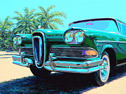 National Park Paintings - Everglades Edsel by Frank Dalton