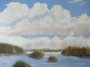 Key West Paintings - Everglades by John Moon