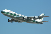 Boeing 747 Prints - Evergreen International 747-273C N470EV at San Bernardino May 31 2006 Print by Brian Lockett