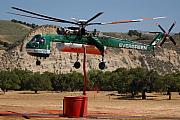 Sikorsky Photo Posters - Evergreen Sikorsky S-64E Skycrane N6979R Tanker 707 Poster by Brian Lockett