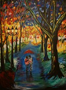 Lighted Pathway Prints - Everlasting Love Print by Leslie Allen