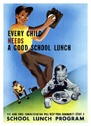 Featured Art - Every Child Needs A Good School Lunch by War Is Hell Store