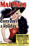 1937 Movies Posters - Every Days A Holiday, Mae West, 1937 Poster by Everett