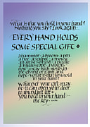 Goals Prints - Every Hand Print by Judy Dodds