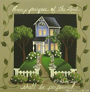 Bible Verse Prints - Every Purpose of the Lord... Print by Catherine Holman
