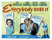 Posth Posters - Everybody Does It, Linda Darnell, Paul Poster by Everett