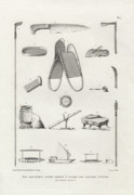 Canoe Drawings Posters - Everyday Items on Guam and Mariannas Poster by dApres Duperrey