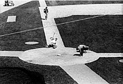 Famous Baseball Pictures Art - Everymans Dream-Sliding in to Home Plate at Yankee Stadium by Ross Lewis