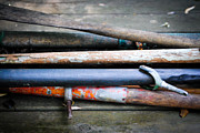 Boat Hardware Prints - Everything I Buy Is Vintage Oars Print by Laura Pineda