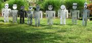 Aluminum Outdoor Sculpture Sculptures - Evil Doers Of Waite Hill by Dawn  Johnson