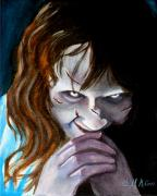 Horror Movies Paintings - Evil doesnt get any better by Al  Molina