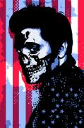 Vector Art Prints - Evil Elvis Print by Tom Deacon