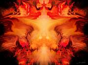 Spano Posters - Evil Red Abstract by Spano Poster by Michael Spano