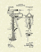 Engine Drawings Posters - Evinrude Boat Motor 1911 Patent Art Poster by Prior Art Design