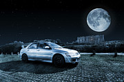 Steve Purnell Art - Evo 7 At Night by Steve Purnell
