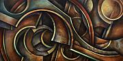 Mechanical Painting Posters - Evolution Poster by Michael Lang
