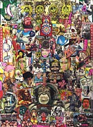 Budha Mixed Media Posters - Evolution Poster by Todd Monaghan
