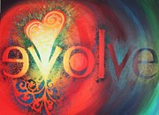 Lifestyle Painting Posters - Evolve Poster by Reina Cottier