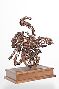Italian Sculpture Sculptures - Evolving - Strange Mechanism 1  by Akelo - Andrea Cagnetti