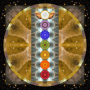 Chakra Framed Prints - Evolving Light Framed Print by Bell And Todd